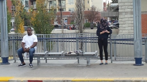 Calgary, Canada, Sunnyside C-Train Station, October 19, 2015, 16:43h